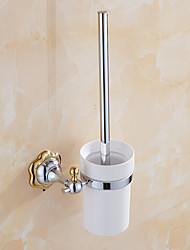 Bathroom Accessories,Mirror Polished Finishing Solid Brass Material Toilet Brush Holder