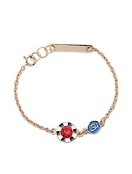 Bohemian Rhinestone Chain Bracelets Golden Rose Bracelet Fashionable Geometric Alloy Jewellery