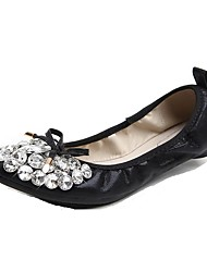 Women's Flats Spring / Summer / Fall Flats Synthetic Casual Flat Heel Crystal / Bowknot Black / Silver / Gold Others