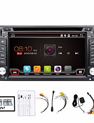 2 din 6.2 pollici 800 * 480 schermo giocatore universale dell'automobile DVD GPS di autoradio navi in ​​precipitare bt video stereo SWC