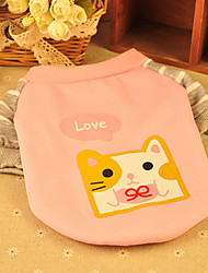 Dog Shirt / T-Shirt Pink / Yellow Spring/Fall Cartoon / Solid Fashion, Dog Clothes / Dog Clothing