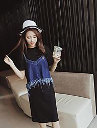 Women's Solid Black Skirts,Street chic Midi