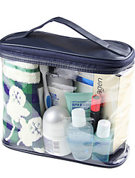 azul bolsa de lavagem transparente homens cosméticos saco senhoras bolsa bolsa granel viajar
