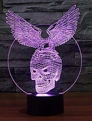Adler Skelett Touch Dimm-3D LED-Nachtlicht 7colorful Dekoration Atmosphäre Lampe Neuheit Beleuchtung Weihnachtslicht