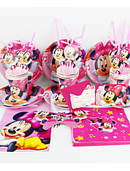 Minnie Mouse 92pcs Birthday Party Decorations Kids Evnent Party Supplies Party Decoration 12 People use