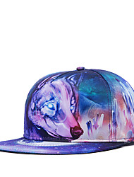 Fashion Women Men Hip Hop Street Dance 3D Fox Head Printed Adjustable Baseball Cap