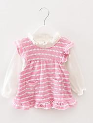 Mädchen T-Shirt / Weste / Kleidungs Set-Lässig/Alltäglich Gestreift Baumwolle Frühling / Herbst Blau / Rosa