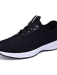 Men's Sneakers  Comfort Tulle Outdoor / Athletic / Casual Flat Heel Lace-up Black / Blue / White Running Sneaker