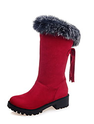 Women's Boots Spring / Fall / Winter Snow Boots / Fashion Boots Leatherette Outdoor /Casual Chunky Heel Others / Tassel