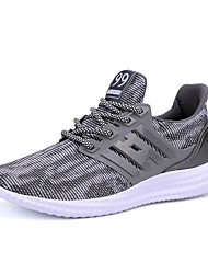 Men's Sneakers Spring / Fall Comfort Fabric Athletic / Casual Platform Lace-up Black / Blue / Gray Sneaker