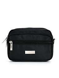 Men Waist Bag Nylon Casual Black