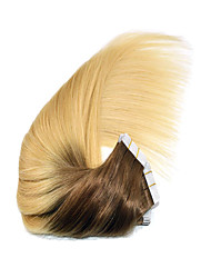 "14""-24"" Ombre Tape in Human Hair Extensions 4/613 Ombre PU Skin Weft Hair Extension 2.5g/pc"