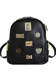 las mujeres de la PU de la bolsa de accesorios de hardware patrones de oso insignia cubo de hombro ocasional de las compras