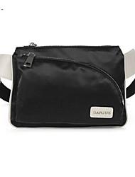 Men Cowhide / Oxford Cloth Casual Waist Bag