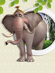 JAMMORY 3XL(14'7''*9'2'')3D Wallpaper For Home Contemporary Wall Covering Canvas Material Cartoon Elephant