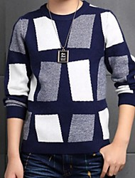 Boy's Casual/Daily Geometric Sweater & Cardigan,Cotton Spring / Fall Blue / Red