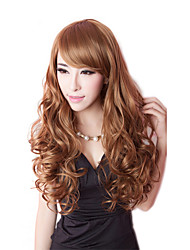 Fashion Women Cute Lady Wig Top Quality Synthetic Wigs Long Brown Color Cosplay Wig