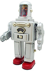 Novelty Toy  Puzzle Toy  Educational Toy  Wind-up Toy Novelty Toy  Space Ship  Robot Metal Silver For Kids