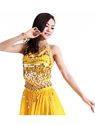 Belly Dance Tops Women's Performance Chiffon Sequins 1 PieceBelly Dance Sleeveless Natural