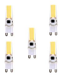 5W G9 LED à Double Broches T 1 COB 400-500 lm Blanc Chaud / Blanc Froid Gradable / Décorative AC 100-240 / AC 110-130 V 5 pièces
