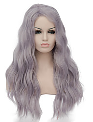 European Vogue Long Sythetic Light Purple U Part Wave Party Wig For Women