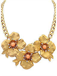 Necklace Statement Necklaces Jewelry Party / Daily / Casual Fashion Alloy / Resin / Rhinestone Beige / Yellow / Blue / Orange / Pink 1pc