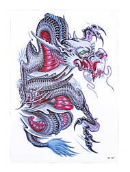 1pc Traditional Temporary Tattoo Chinese Dragon Design Women Men Body Arm Sleeve Art Waterproof Tattoo Sticker HB-387