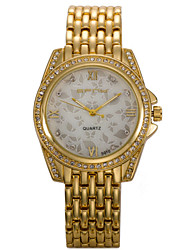 Women's Fashion Watch Simulated Diamond Watch / Quartz Stainless Steel Band Sparkle Charm Cool Silver Gold