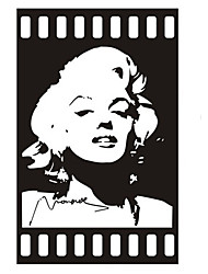 Fashion The Marilyn Monroe Pattern PVC Bathroom or Bedroom or Glass Wall Sticker Home Decor