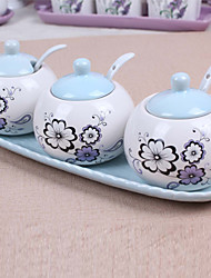 Ceramic Dressing Pots  Purple  Garden