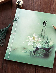Lotus Pond Archaize Chinese Style Wire-bound Notebook