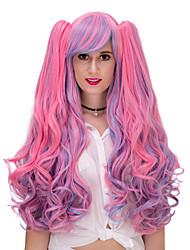 rosa ondulada lolita wig.wig pelo, peluca de Halloween, peluca de color, peluca de la manera, peluca natural, peluca cosplay.