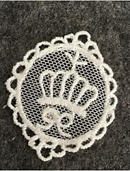 Poly/Cotton Wedding /Birthday  Embroidery Fabric 1 pc White