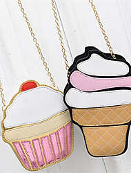 Women PU Casual  Shopping Personalized Chain Ice Cream Cake Shoulder Bag