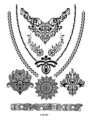 5pcs Black Flower Lace Women Henna Hand Body Art Jewelry Temporary Choker Tattoo Sticker