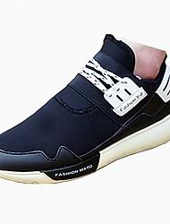 Herren-Flache Schuhe-Lässig-Stoff PU-Flacher AbsatzSchwarz Weiß