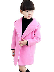 Girl's Casual/Daily Solid Suit & Blazer / Jacket & Coat,Rayon Winter / Spring / Fall Pink / Red / Gray