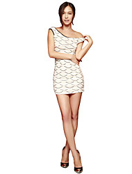 Joannekitten Women's Sexy / Party / Cocktail / Work / Holiday Jacquard Bodycon Dress , Boat Neck Knee-length