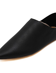 Women's Flats Fall Pointed Toe / Flats PU Casual Flat Heel Others Black / White Others