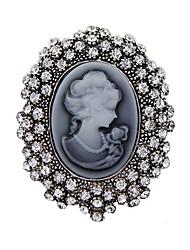 женские моды кристалл серебра антиквариата год сбора винограда броши булавки ювелирные изделия королева горный хрусталь броши