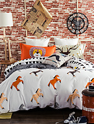 Horses 800TC bedding sets Queen King size Bedlinen printing sheets pillowcases Duvet cover sanding Cotton Fabric