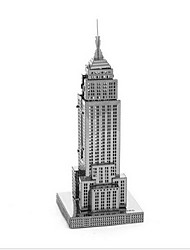 Jigsaw Puzzles 3D Puzzles Building Blocks DIY Toys Famous buildings 1 Metal Silver Game Toy