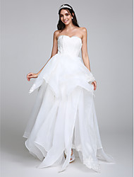 LAN TING BRIDE A-line Wedding Dress Simply Sublime Floor-length Sweetheart Organza with Appliques Lace