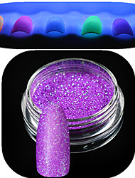 1 Bottle Nail Art Beautiful Noctilucent Powder Colorful Glitter Shining Nail Beauty Decoration YG01-06 Random Delivery