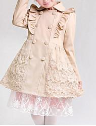 Mädchen Trenchcoat-Ausgehen einfarbig Baumwolle Winter / Frühling / Herbst Grau