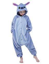 Kigurumi Pajamas New Cosplay® / Stitch / Monster Leotard/Onesie Halloween Animal Sleepwear Sky Blue Patchwork Polar Fleece Kigurumi Kid