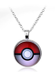 Pocket Little Monster Pokeball Pocket Little Monster Ball Halder Necklace Pendant (50cm)