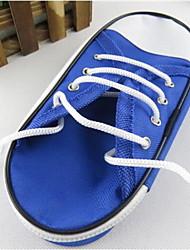 Novo caso de lápis sapatas de lona simples de grande capacidade de papelaria sacos