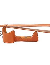 cuir dengpin® pu moitié caméra cas sac de base de couverture pour sony ILCE-6300 a6300 A6000 (couleurs assorties)