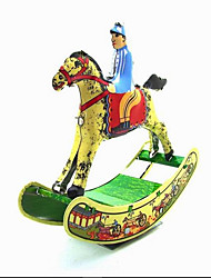 Novelty Toy  Pretend Play  Puzzle Toy  Wind-up Toy Novelty Toy Horse  Metal Yellow For Kids